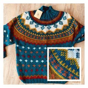 Vintage Ivy Chunky Knit Sweater Hand Knit 90s Ski